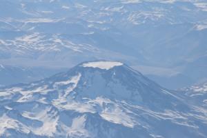 Cerro Azul volcano, Chile.