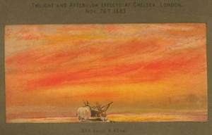 Sunset at Chelsea, 4.40 pm,  November 26th, 1883. From Symonds (1888).
