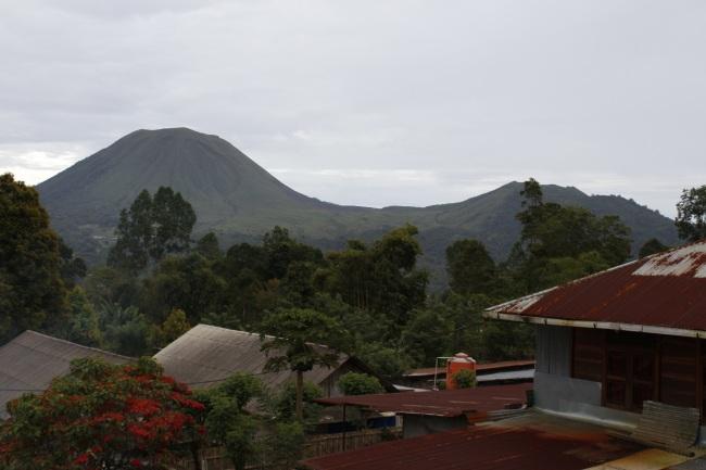 Lokon Empung volcano.