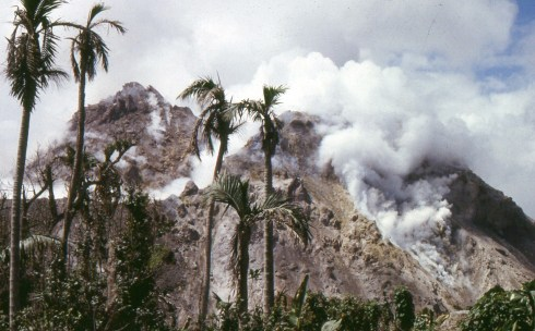 The lava dome of the Soufrière Hills Volcano, Montserrat, February 1998