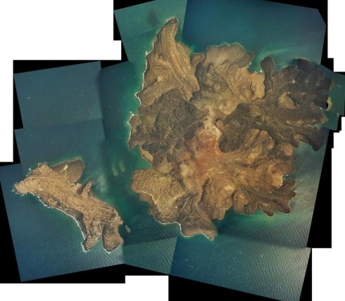 Air photo mosaic of the Kameni island of Santorini, based on images taken during a 2004 NERC Airborne Research and Survey Facility campaign